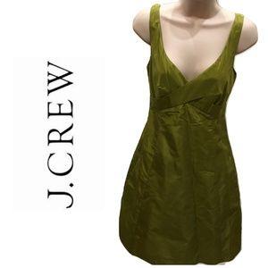 J Crew Size 0P Dress Fit Flare Citron Green Silk